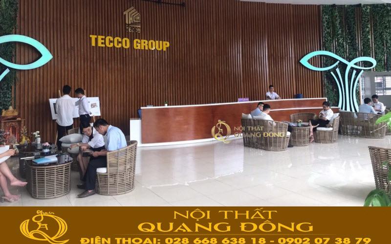 Bộ bàn ghế sofa giả mây QD-2056 của nhà sản xuất Nội Thất Quang Đông tại tecco group