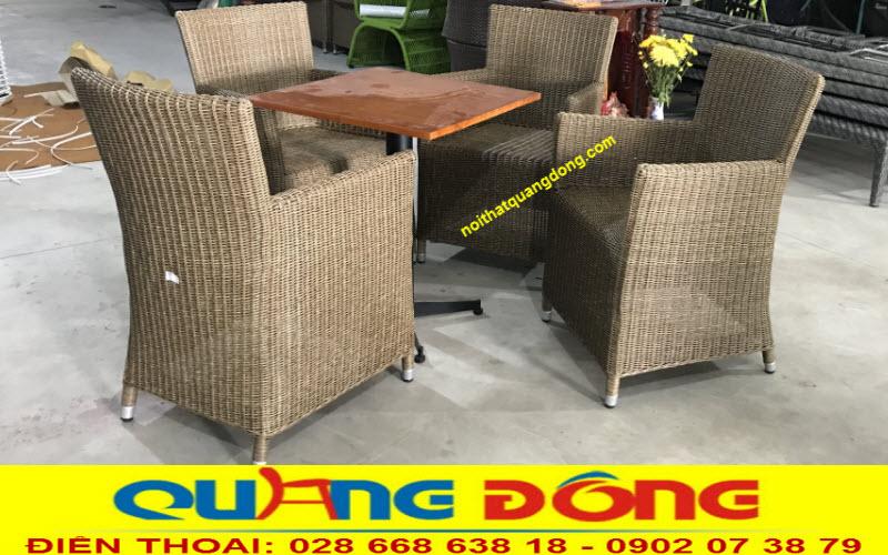 Ghế giả mây đan sợi tròn được người tiêu dùng đánh giá cao về chất lượng độ bền tính thẩm mỹ