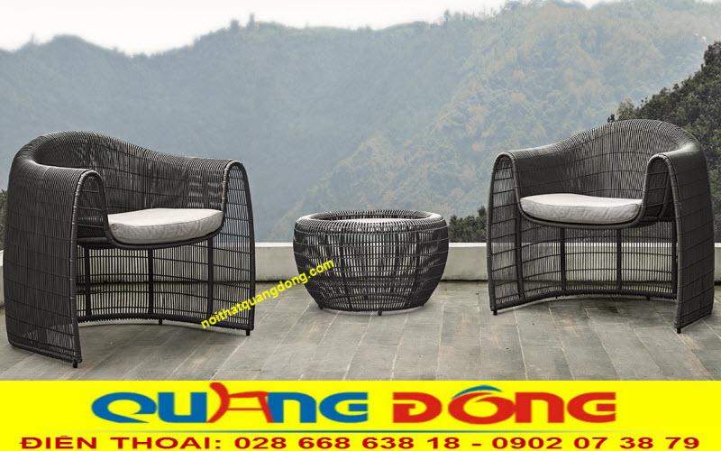 Bàn ghế giả mây QD-275 hoàn toàn mới giải pháp tối ưu cho cả nội và ngoại thất