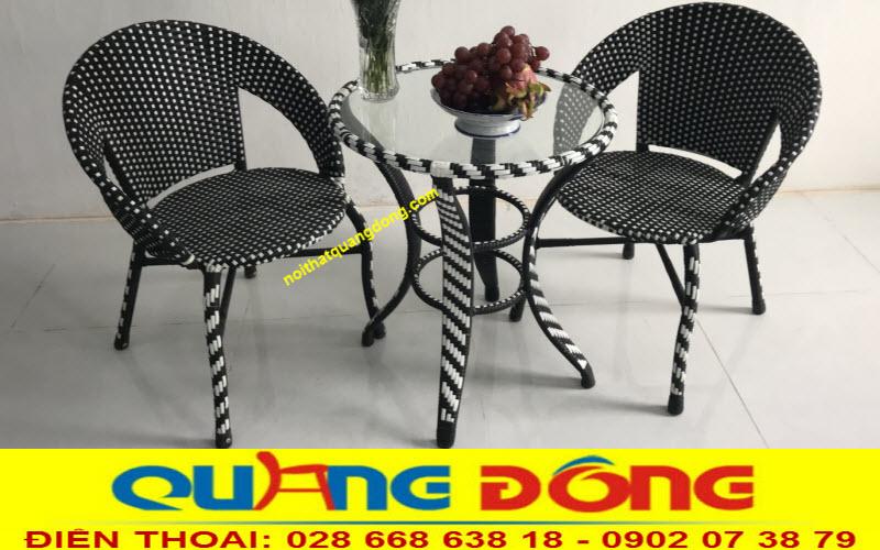 Mẫu ghế giả mây cho quán cafe, nơi cung cấp bàn ghế mây nhựa giá tại xưởng