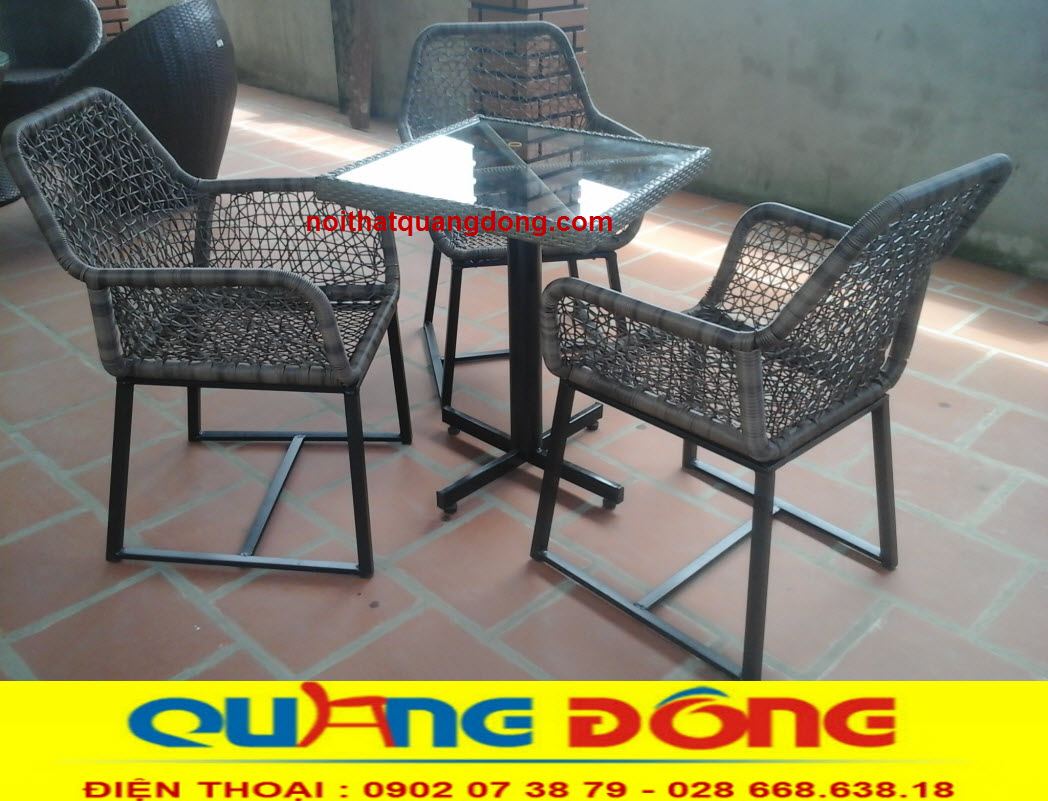 Mẫu ghế giả mây đẹp, độc, lạ. sản phẩm phù hợp với quán cafe có thiết kế phong cách cổ điển sang trọng