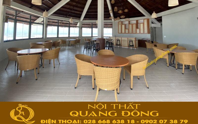 mẫu bàn ghế cho quán cafe giả mây QD-311