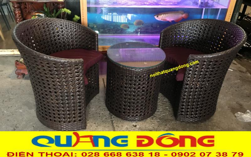 Mẫu ghế nhựa giả mây cao cấp dùng cho cả nội thất và ngoại thất sân vườn, khu vực ngoài trời khách sạn, khu resort