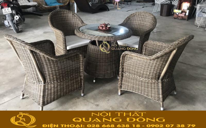 Mẫu ghế giả mây tại Nội Thất Quang Đông