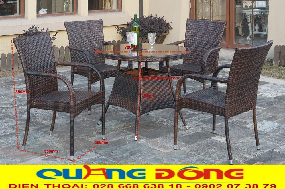 Nội Thất quang Đông nhà sản xuất cung cấp bàn ghế nhựa giả mây giá gốc tại xưởng
