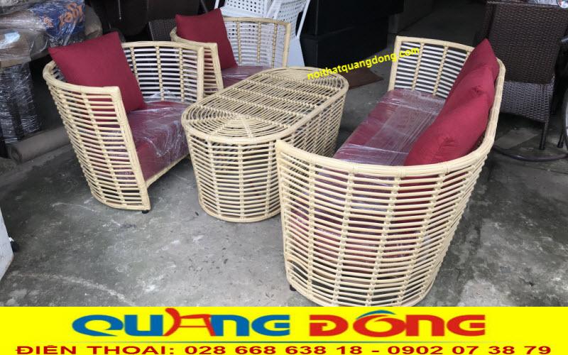 Xưởng sản xuất ghế mây nhựa, bàn ghế giả mây giá tốt tại hcm