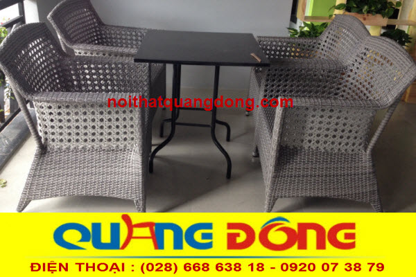 mẫu ghế giả mây QD-303 phom ghế rộng lớn kiểu dáng mới , sản phẩm dùng cho quán cafe khu resort
