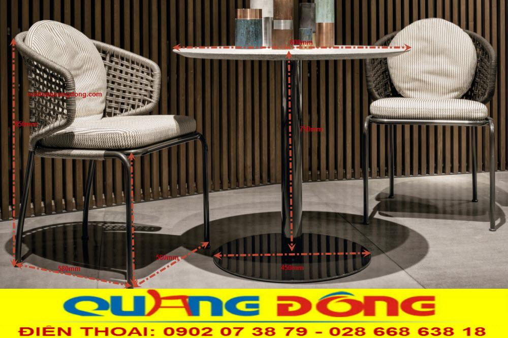 Ghế giả mây thiết kế mới lạ đẹp độc đáo, Bộ bàn ghế giả QD-389 sang trọng đẹp cho mọi góc nhìn
