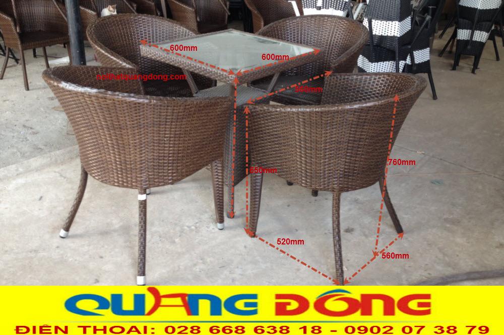Mẫu bàn ghế cho quán cafe