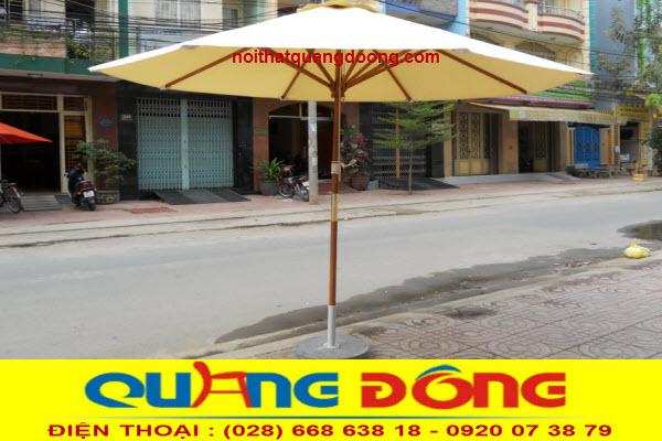 ô dù đúng tâm thân bằng gỗ sản phẩm thích hợp với những quán cafe cổ