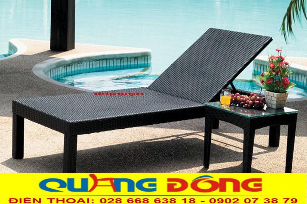 Ghế hồ bơi QD-1234 là vật dụng với công dụng chính là thư giãn tắm nắng sử dụng chính ở bể bơi gia đình, khách sạn, khu resort...