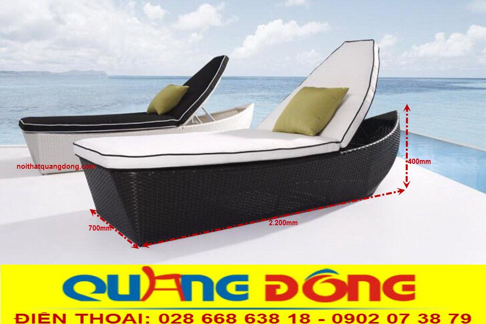 Kích thước tiêu chuẩn mẫu ghế nằm hồ bơi QD-1240