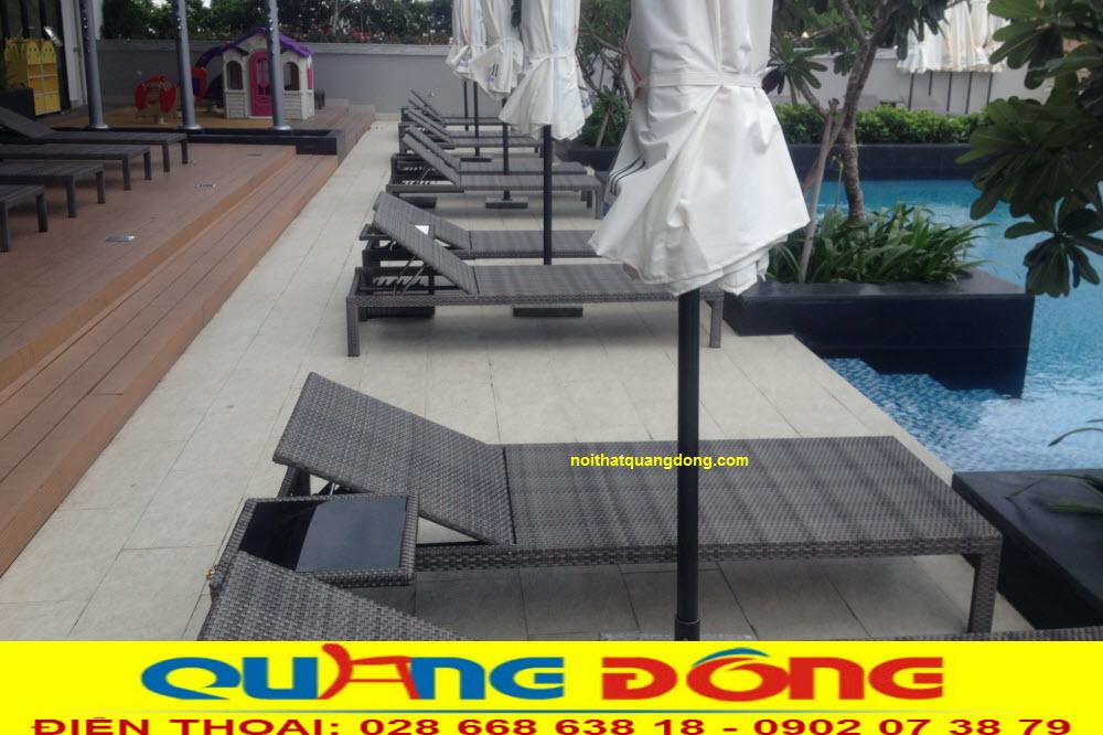 Nội Thất Quang Đông cung cấp Ghế hồ bơi QD-1247 cho hotel Ariyana Smart Condotel Nha Trang