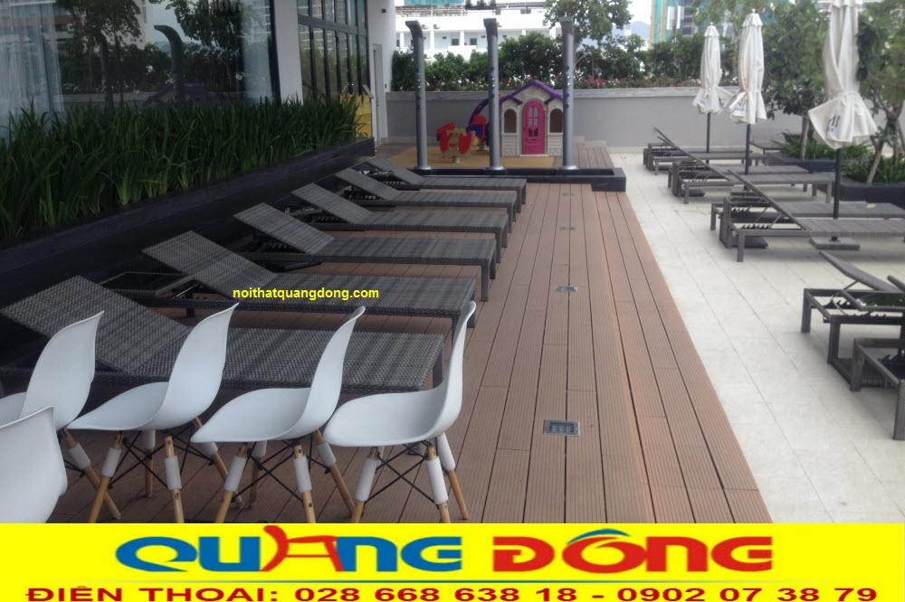 Mẫu ghế hồ bơi QD-1247 NỘI THẤT QUANG ĐÔNG cung cấp cho khách sạn Ariyana Smart Condotel Nha Trang