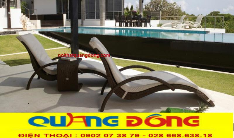 Ghế thư giãn tắm nắng cho hồ bơi bể bơi bằng nhựa giả mây bền đẹp, chịu mưa nắng, giá tốt tại xưởng hcm