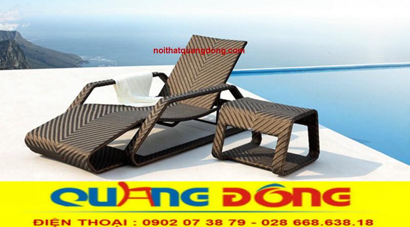 Ghế hồ bơi là sản phẩm thư giãn tắm nắng chuyên dùng cho hồ bơi, bể bơi khách sạn khu resort, công ty sản xuất ghế hồ bơi giả mây