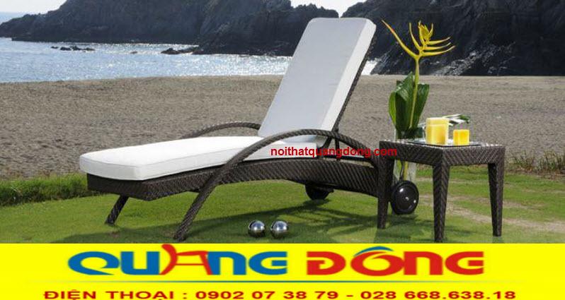 Ghế hồ bơi giả mây là sản phẩm thư giãn tắm nắng tuyệt vời cho bể bơi khách sạn, khu resort