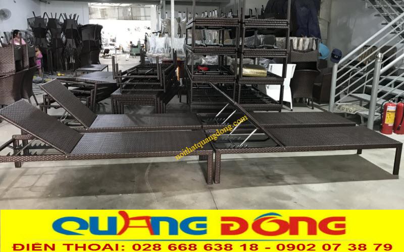 Nội Thất Quang Đông công ty sản xuất ghế nằm hồ bơi, sản phẩm thư giãn tắm nắng cho bể bơi, bãi biển khu resort, khách sạn