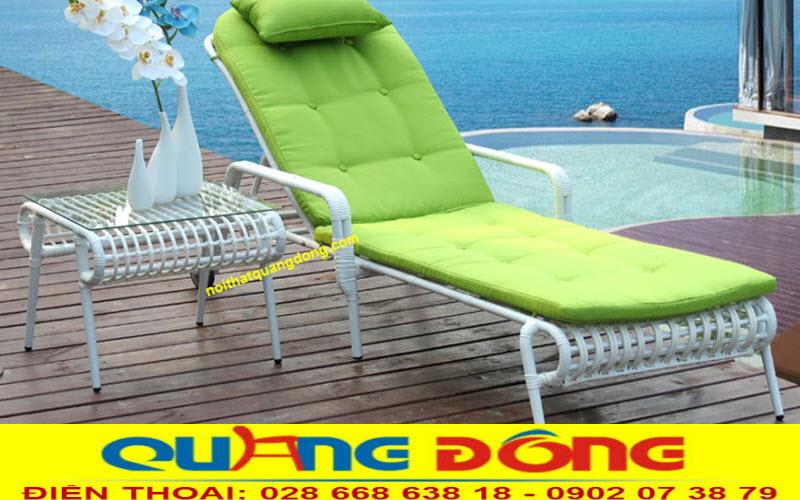 Mẫu ghế nằm bể bơi, bãi biển