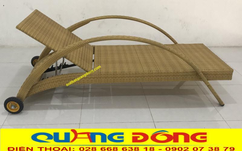 Mẫu ghế nằm hồ bơi QD-252 màu vàng mây nhã nhặn