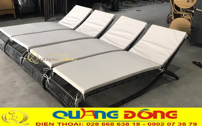 Xưởng sản xuất ghế nằm hồ bơi giả mây, nơi bán ghế nằm hồ bơi giá tốt tại hcm