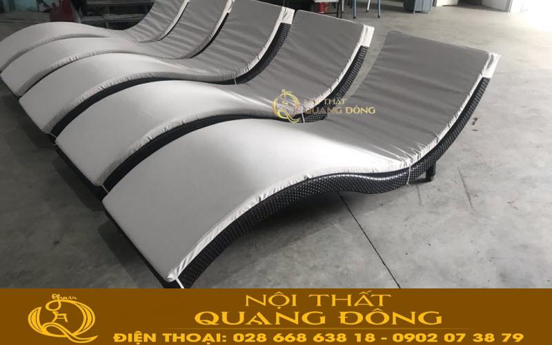 Nội Thất Quang Đông ra mẫu ghế nằm hồ bơi QD-576 theo yêu cầu