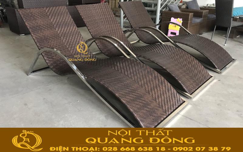 Nội Thất Quang Đông ra mẫu ghế nằm hồ bơi QD-580