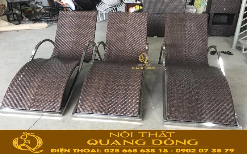 Mẫu ghế nằm thư giãn tắm nắng cho hồ bơi QD-580