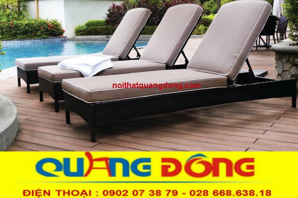Mẫu ghế thư giãn tắm nắng cho bể bơi tuyệt đẹp khả năng chịu mưa nắng tốt -ghế hồ bơi QD-248