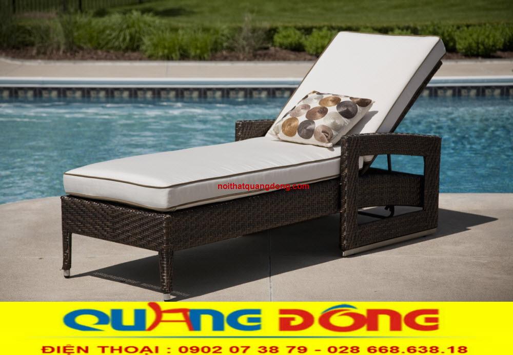 GHế hồ bơi giả mây sản phẩm không thể thiếu của bể bơi, đây là vật dụng thư giãn tắm nắng tuyệt vời cho bạn