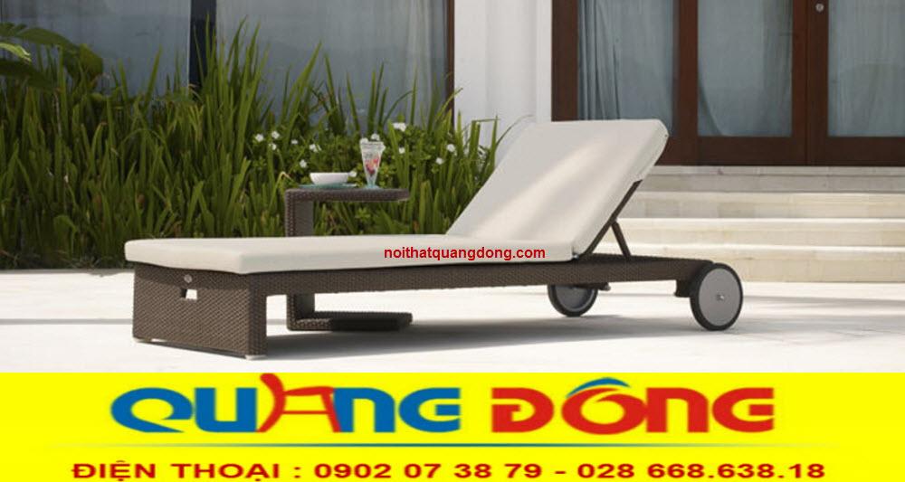 Ghế hồ bơi giả mây giải pháp thư giãn tắm nắng tuyệt vời cho bể bơi khách sạn, khu resort