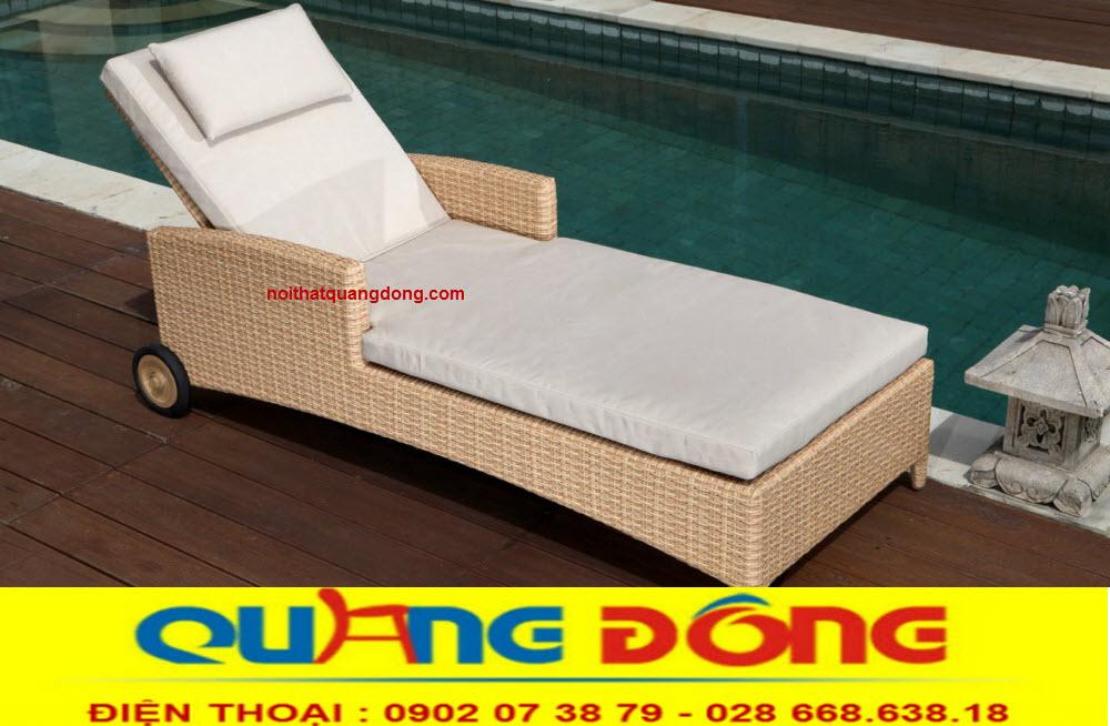 Ghế thư giãn tắm nắng cho bể bơi hồ bơi mang lại cảm giác êm thoáng, dễ chịu cho người sử dụng,mẫu ghế hồ bơi QD-256