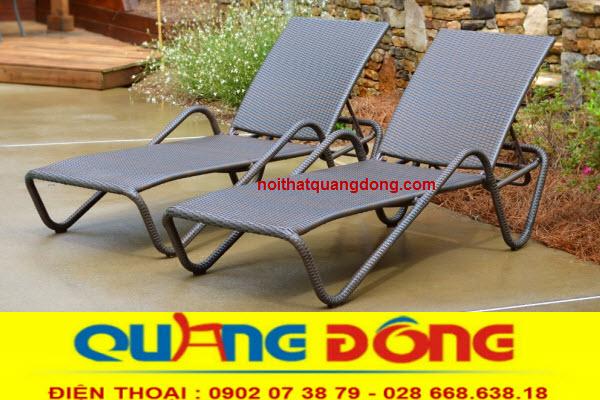 Ghế nằm thư giãn tắm nắng hồ bơi bể bơi giả mây đẹp, nơi bán ghế nằm hồ bơi giá gốc tại xưởng