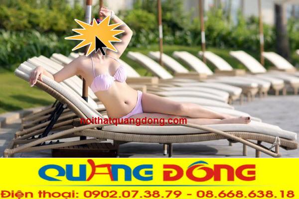 Mẫu ghế nằm hồ bơi chịu mưa nắng giả pháp tuyệt vời cho bể bơi khách sạn, khu resort