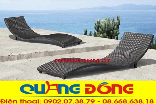 Ghế nằm thư giãn tắm nắng bể bơi, bãi biển khu resort, khách sạn sản phẩm làm bằng nhựa Ratan giả mây