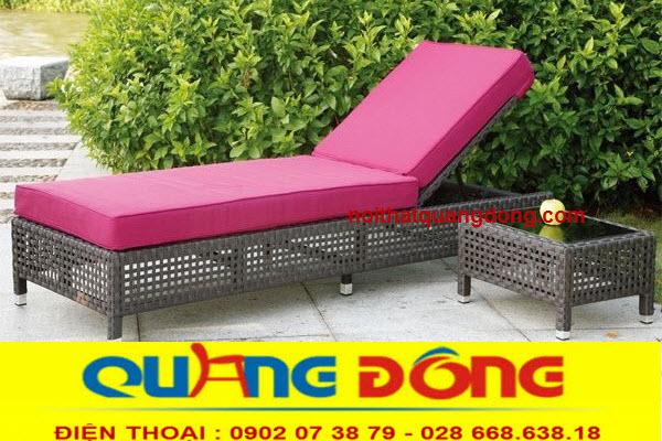 Công ty tnhh Nội Thất Quang Đông chuyên sản xuất ghế nằm hồ bơi, giường tắm nắng ...bằng chất liệu nhựa giả mây