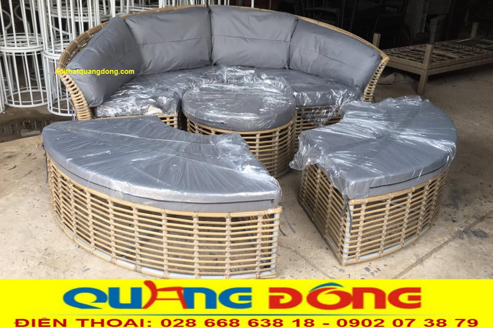 Mẫu giường tắm nắng QD-519 ghi hình thực tế tại xưởng CÔNG TY NỘI THẤT QUANG ĐÔNG