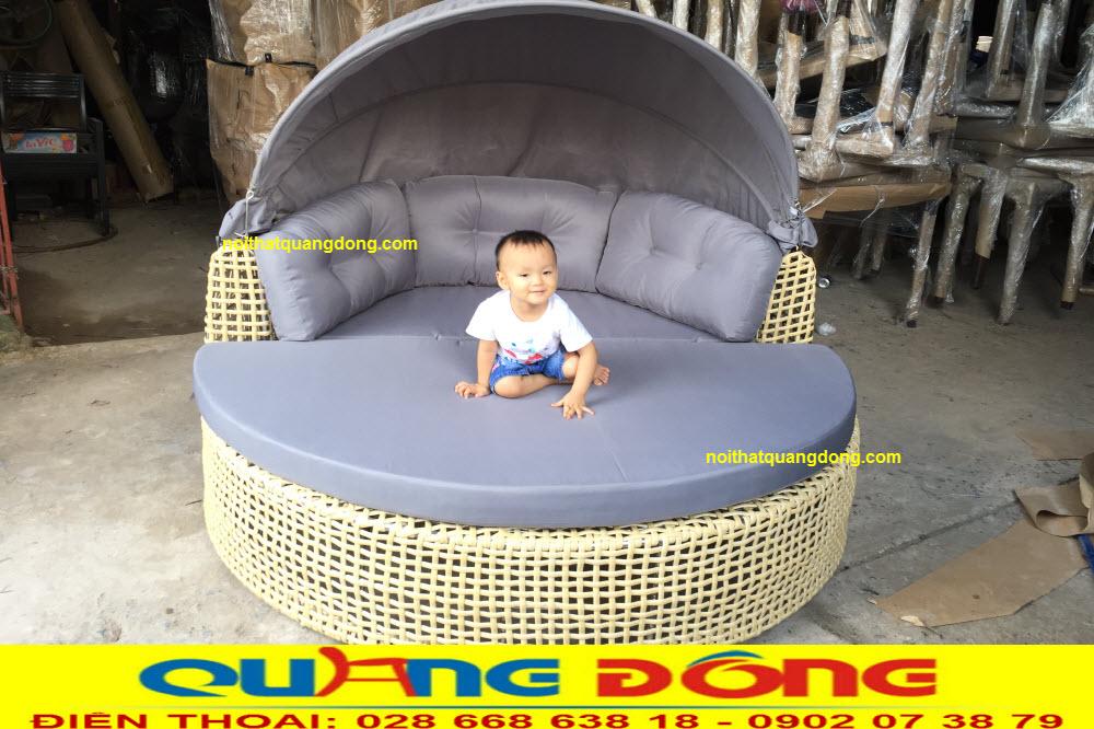 Mẫu giường tắm nắng QD-520 ghi hình tại xưởng CÔNG TY NỘI THẤT QUANG ĐÔNG trước khi bàn giao cho khách sạn lotus sài gòn
