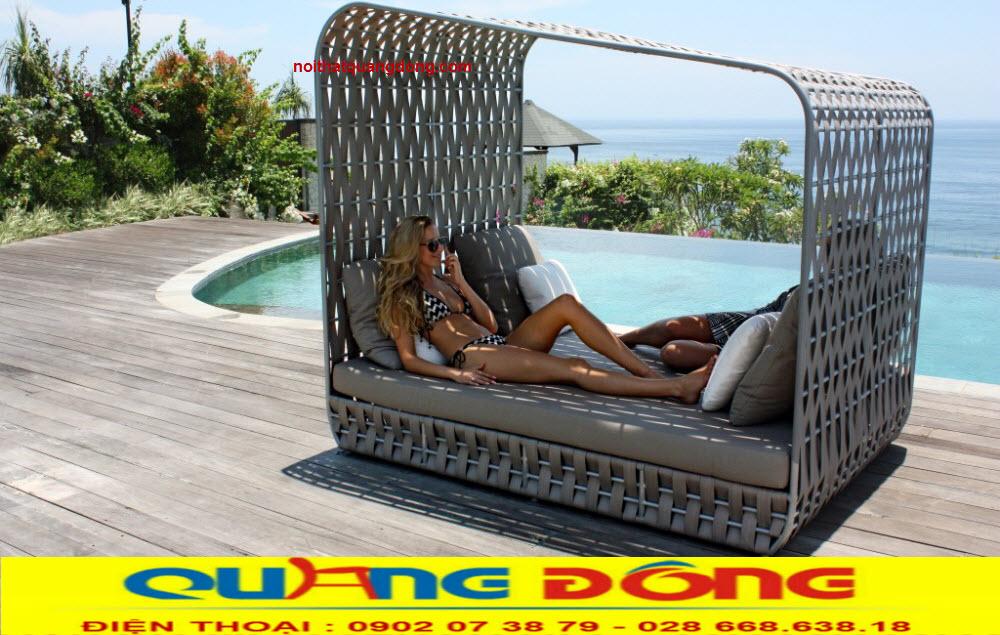 Giường nằm hồ bơi QD-529 mẫu giường tắm nắng thư giãn cho bể bơi, hồ bơi