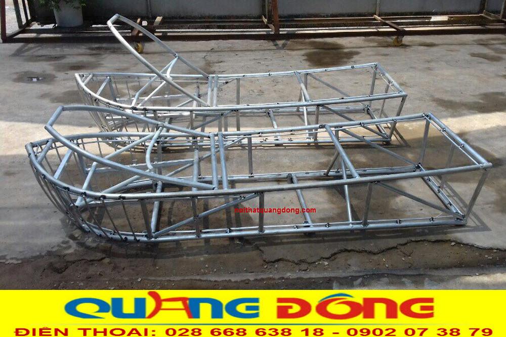sản xuất Khung nhôm mẫu ghế nằm hồ bơi QD-1240 chịu nước muối
