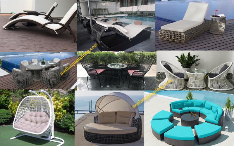 Quang Đông nhà sản xuất cung cấp các loại bàn ghế giả mây cho nội thất nhà hàng khách sạn, khu resort