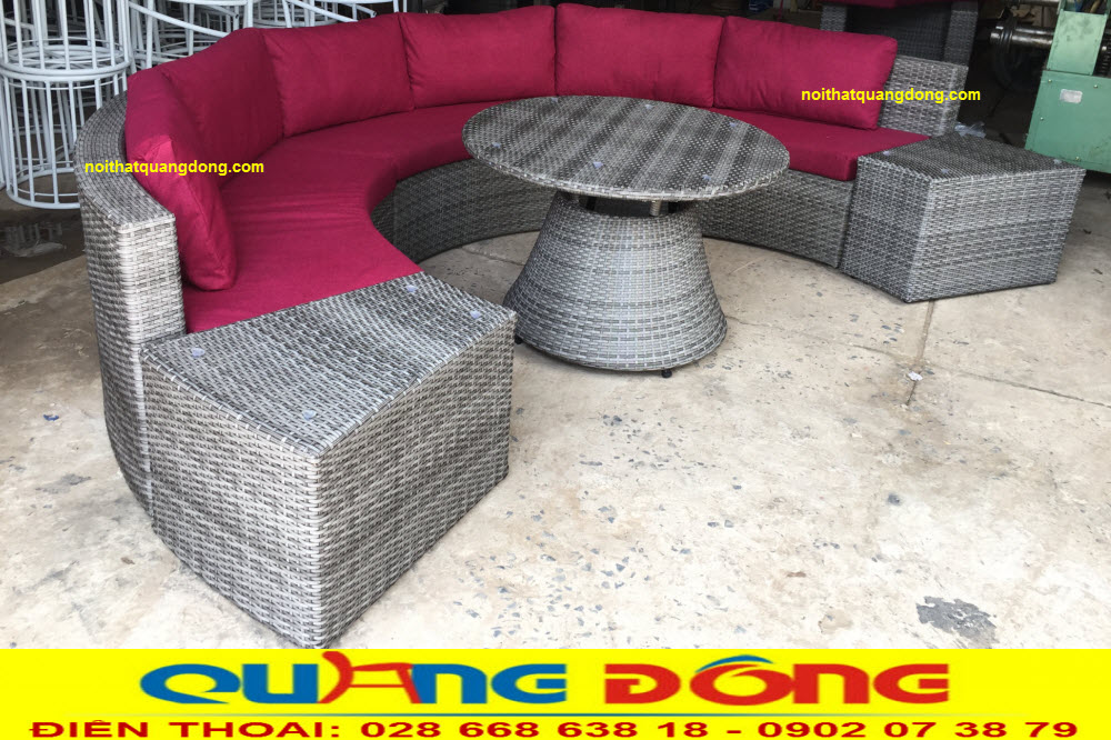 Mẫu sofa hình tròn độc đáo được ghi hình tại xưởng công ty NỘI THẤT QUANG ĐÔNG