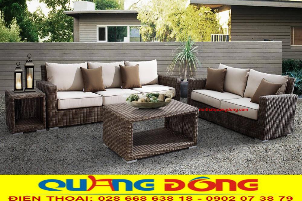 Bộ sofa giả mây QD-659 dùng cho sân vườn ngoài trời