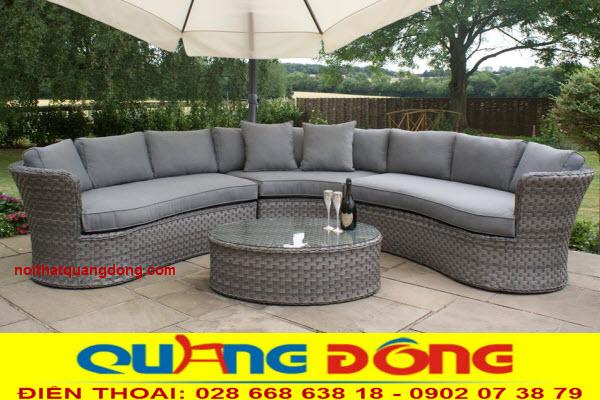 Bộ bàn ghế sofa dùng cho ngoại thất sân vườn mang tính hiện đại và đảng cấp nhất ngày nay