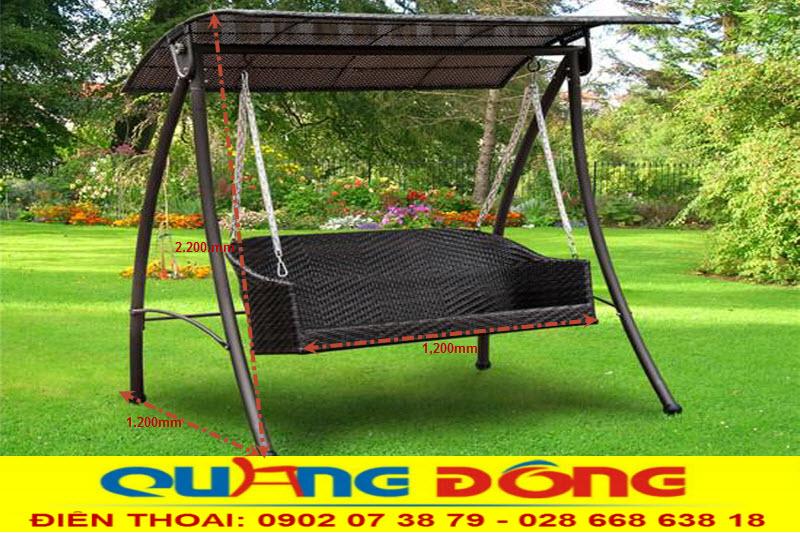 Xích đu sản phẩm trang trí làm đẹp cho không gian ngoại thất, vật dụng ngồi thư giãn tuyệt vời cho bạn bên khu vườn nhà mình. Mẫu xích đu mây nhựa QD-503