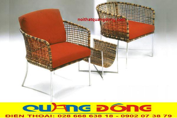 Mẫu bàn 2 ghế cho ban công bằng nhựa giả mây